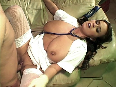 Cock riding big teased nurse